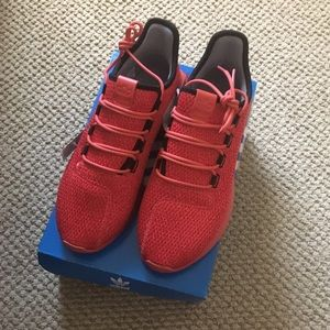 Adidas red tubular shadow